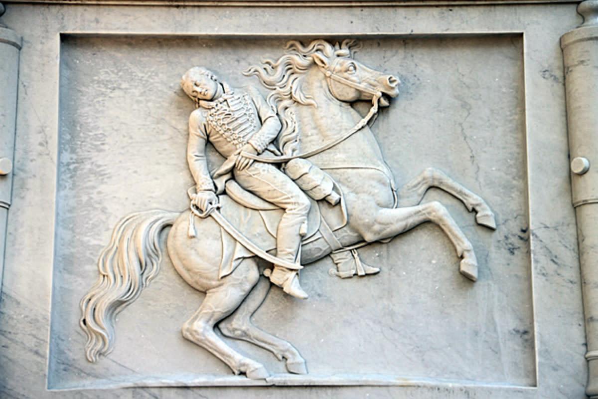 Detail, Casimir Pulaski Monument. Savannah, Georgia.