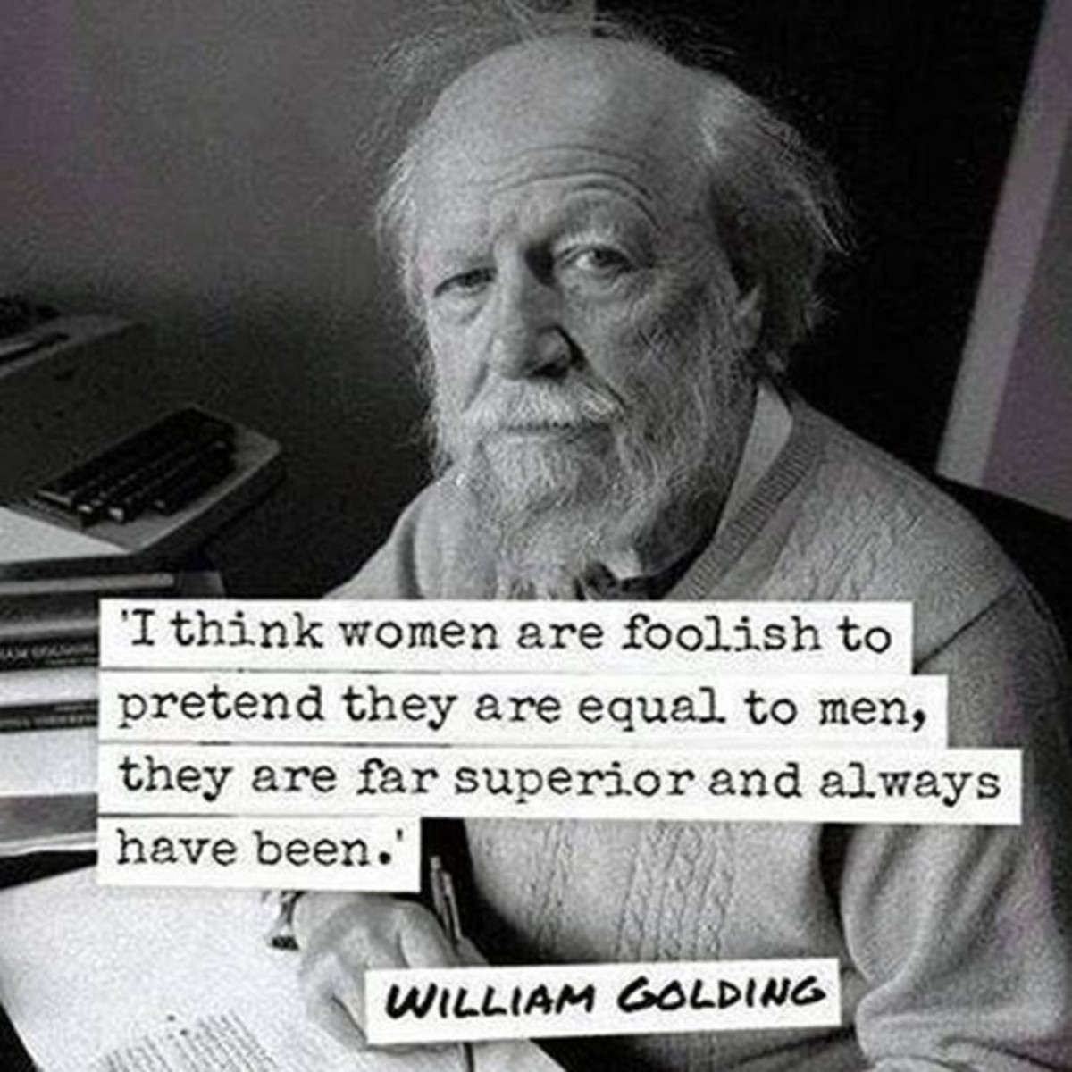 "Nobel Prize winning author William Golding who wrote ""Lord of the Flies"""