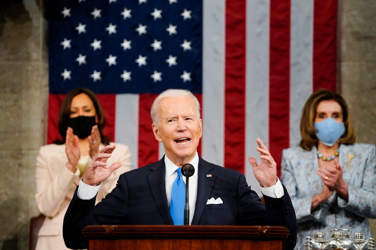 President Biden delivers his first address to a joint session of Congress on Wednesday.