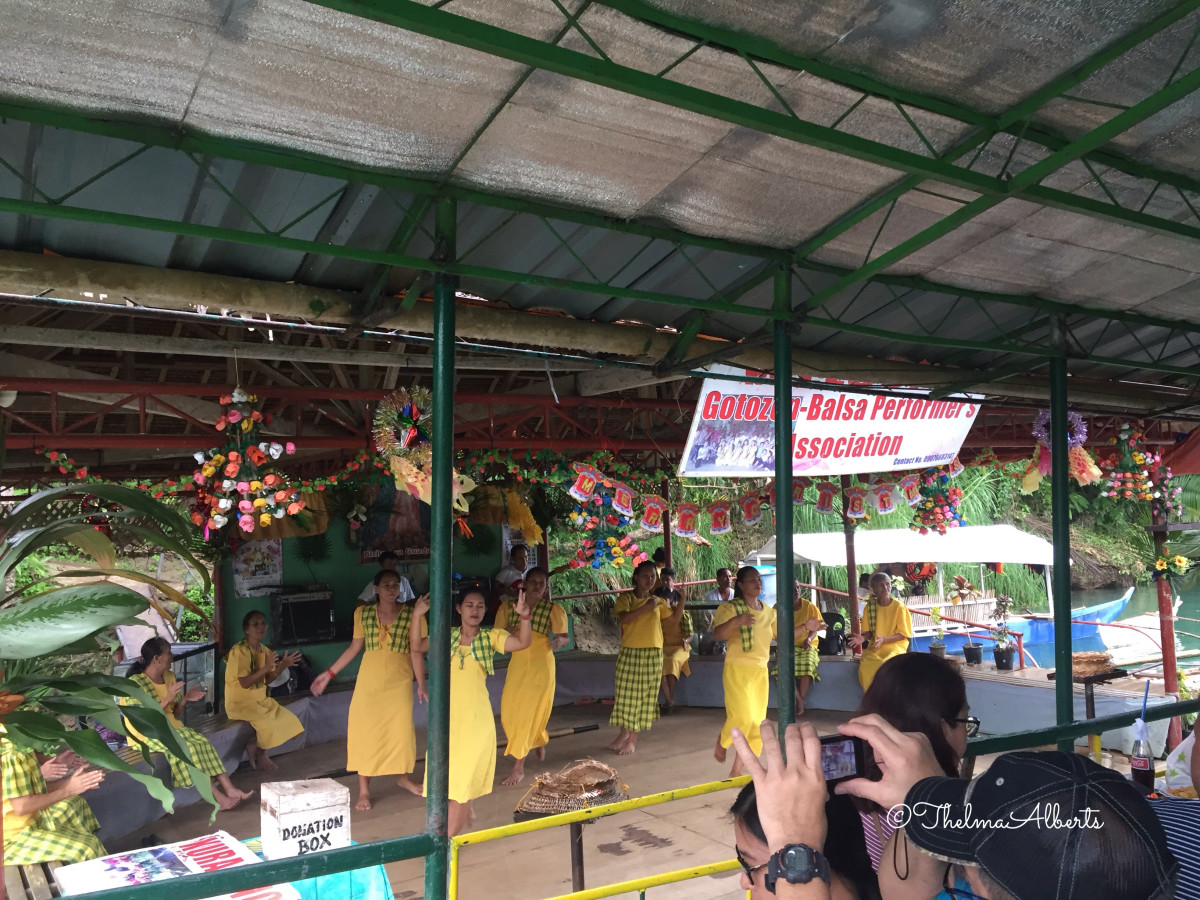The Filipino cultural show during our Loboc River Cruise.