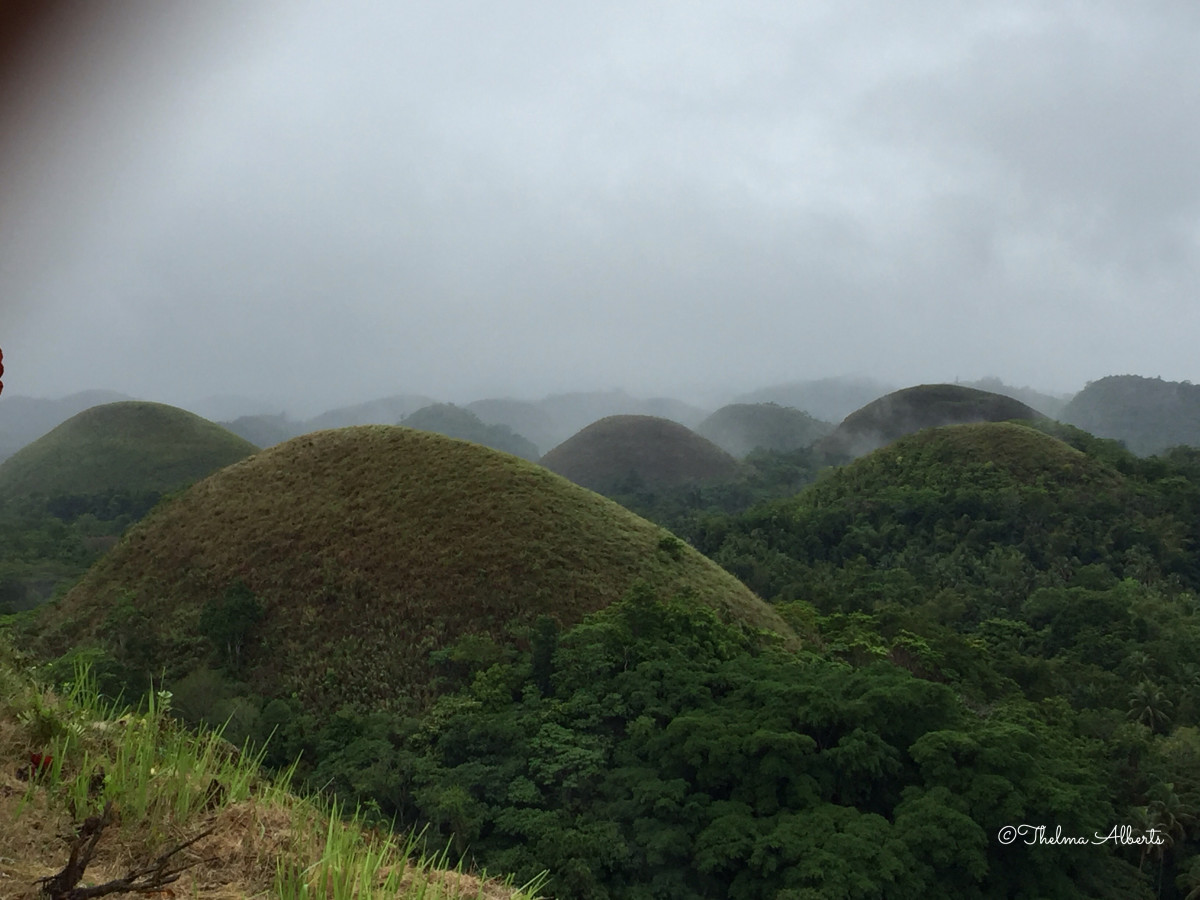 Chocolate Hills in Bohol, Philippines.