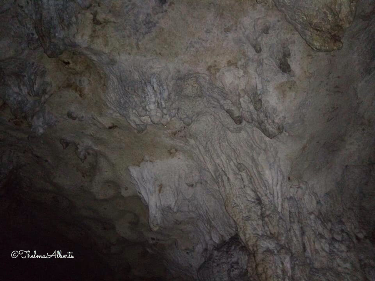 A lighted part of Hinagdanan Cave in Bohol.
