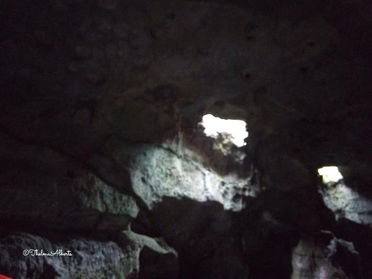 A part of the Hinagdanan Cave in Bohol.