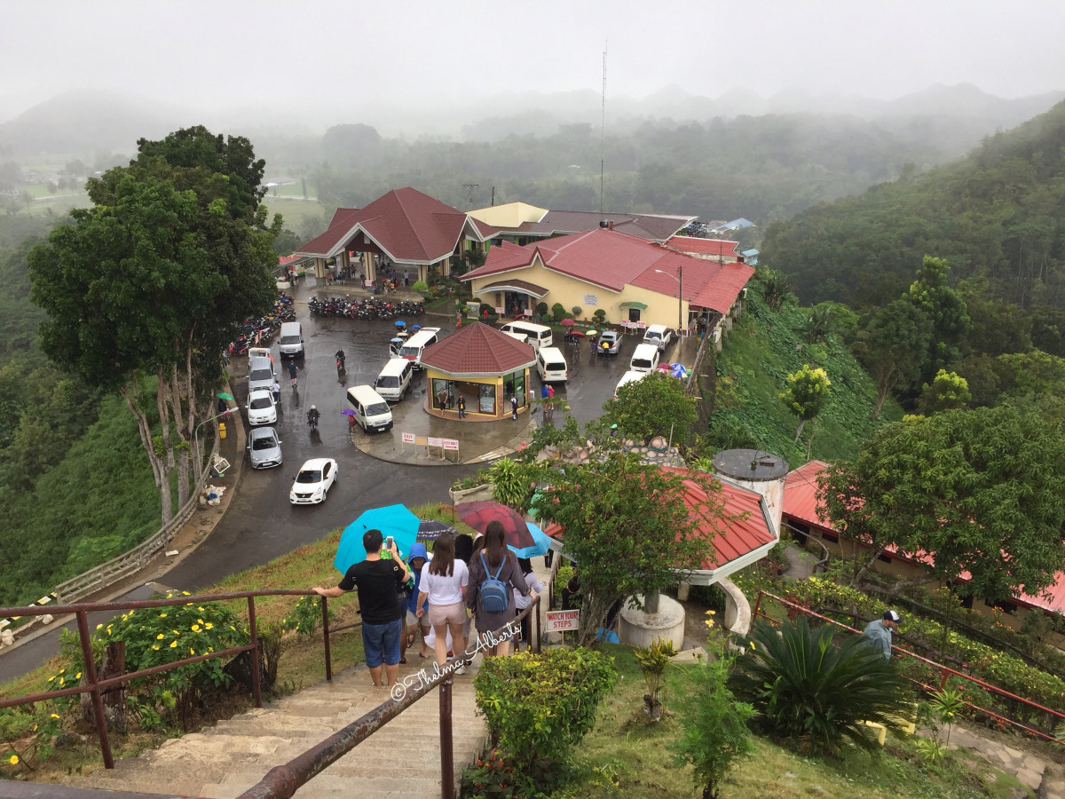 The entrance to the Chocolate Hills viewing platform.
