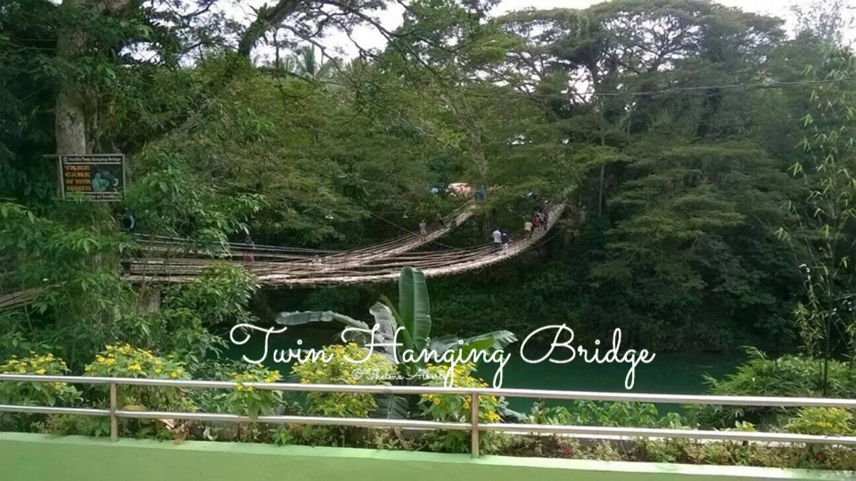 The Twin Hanging Bridge in Sevilla, Bohol.