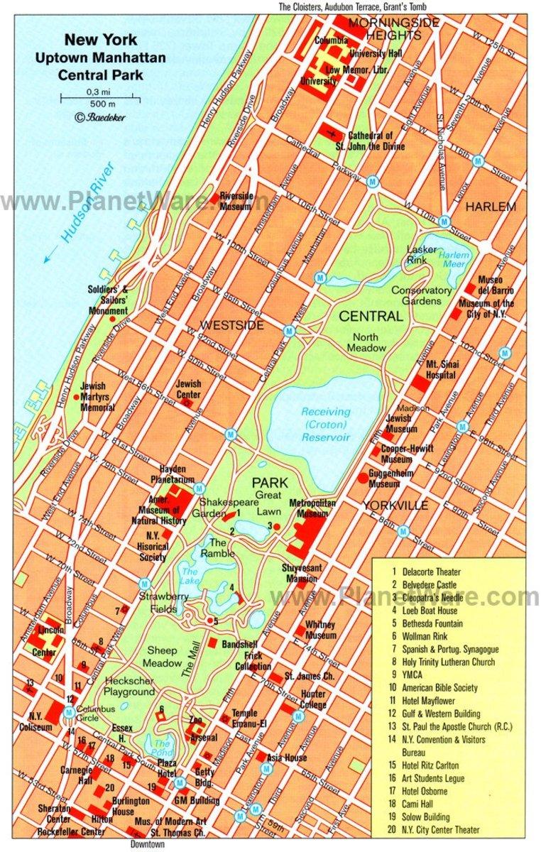 Cleopatra's Needle  Central Park Location
