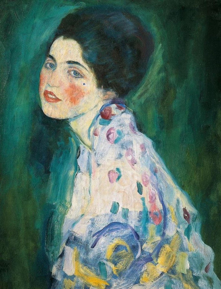 Portrait of woman by Gustav Klimvt