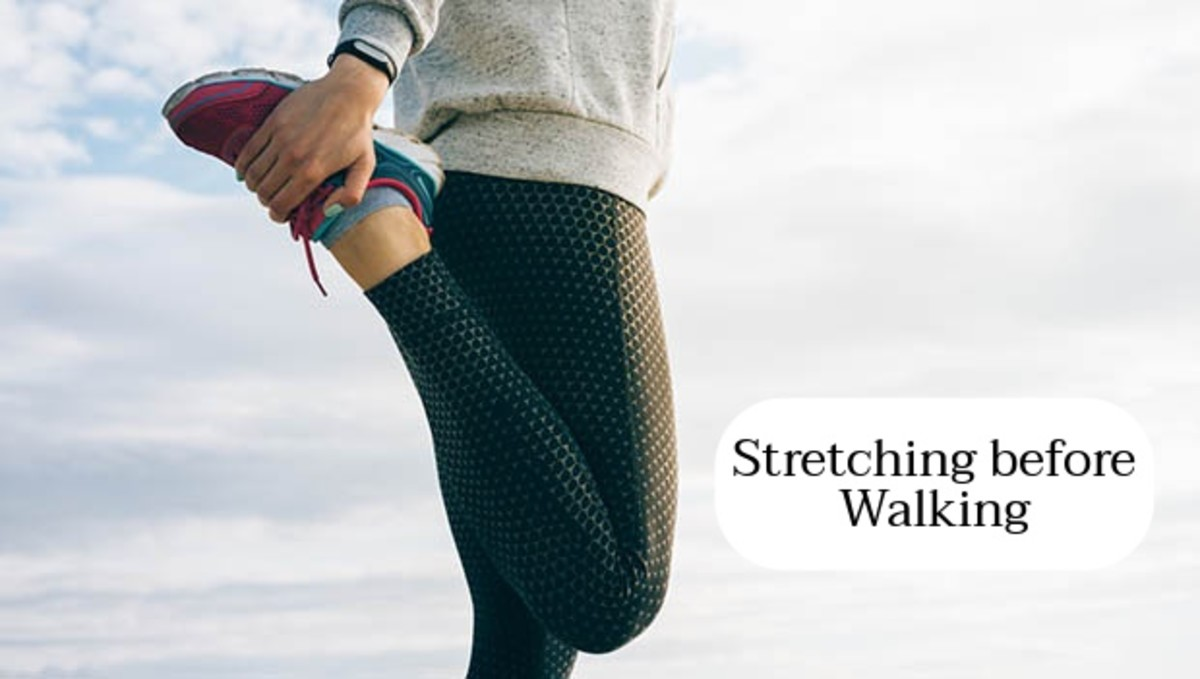 Stretching before your walk can make your body feel more prepared.