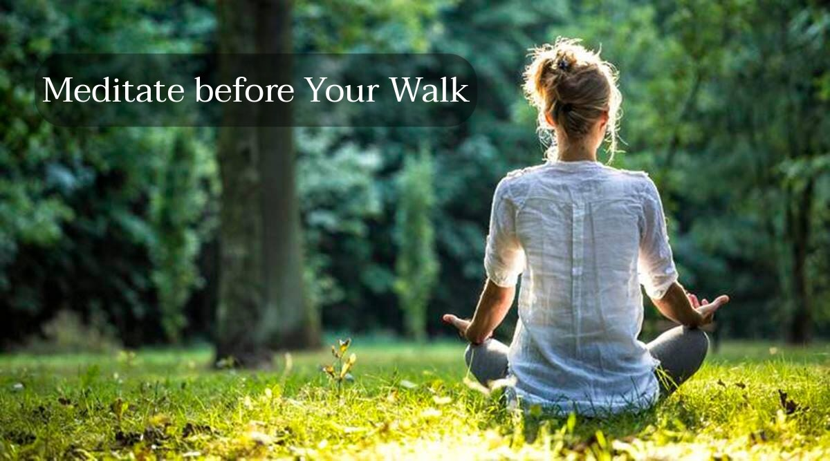 If you're feeling negative about walks, try doing meditation before them. Relax yourself and don't psyche yourself out about getting enough steps. You didn't fail if you didn't reach 10,000 steps.