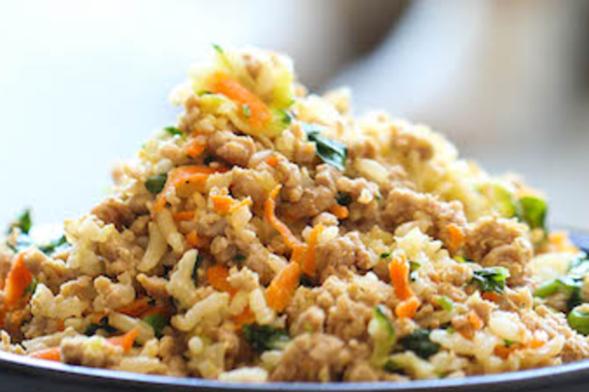 Dog Food Recipes: Turkey Vegetable Rice Meal