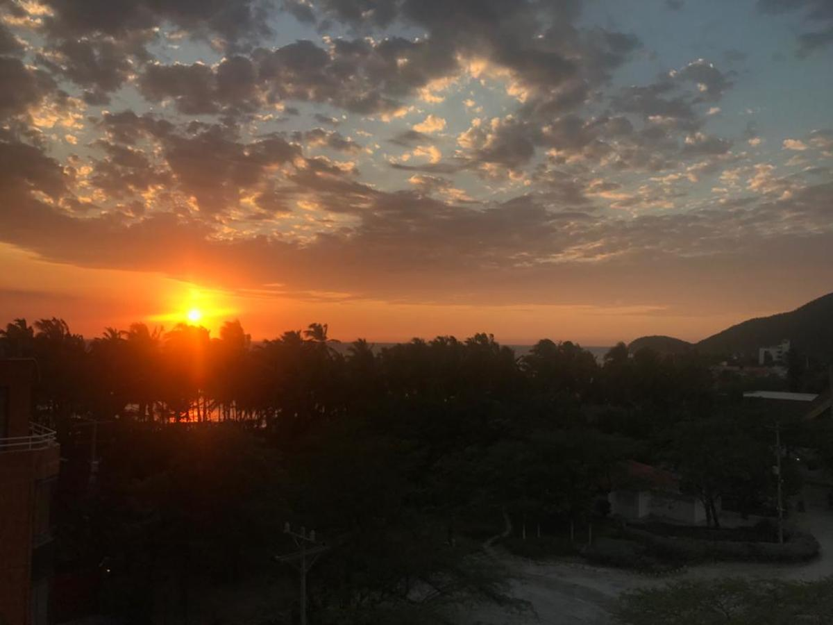 Santa Marta's sunset, from an apartment in Pozos Colorados.