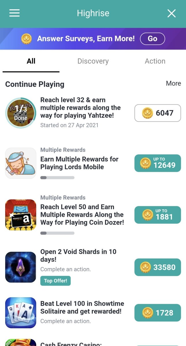 The TapJoy offerwall