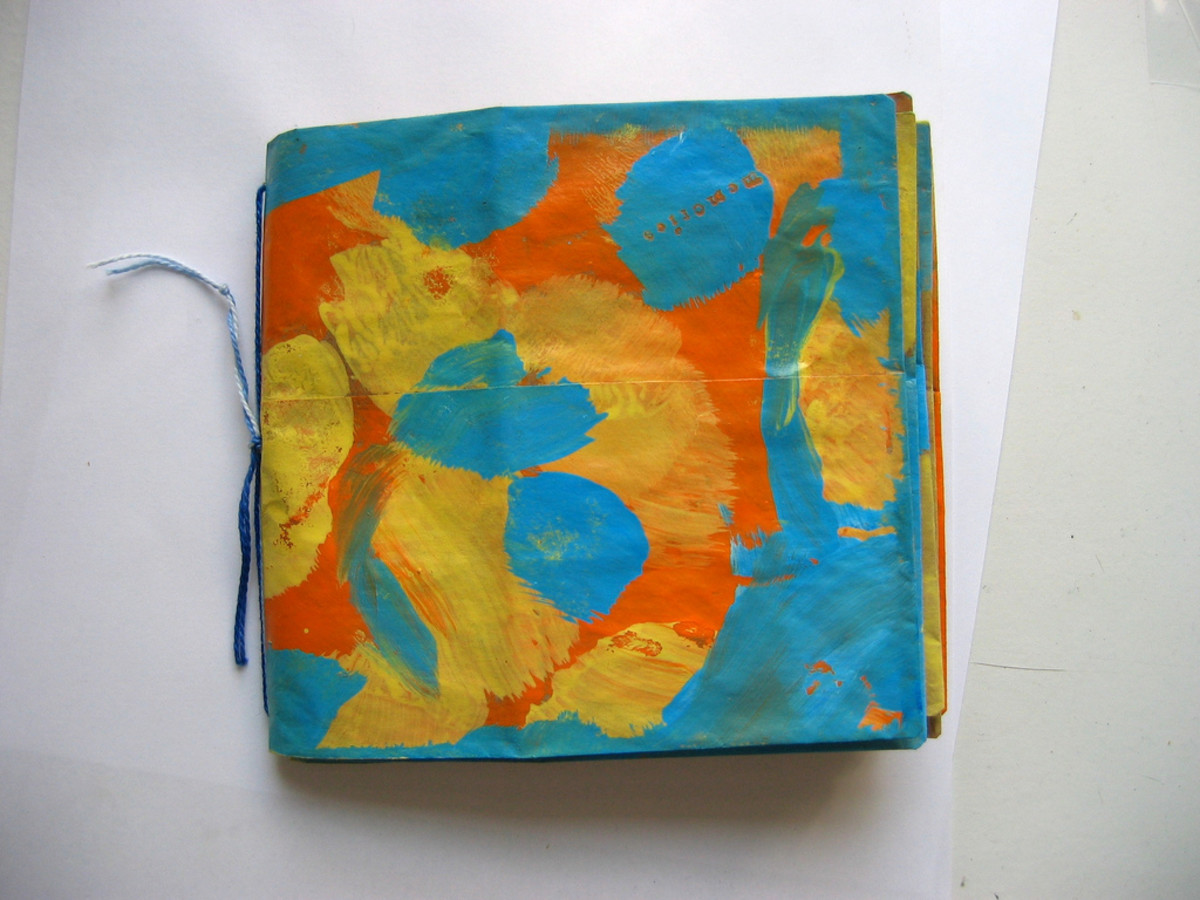 Splashy bright paper bag book