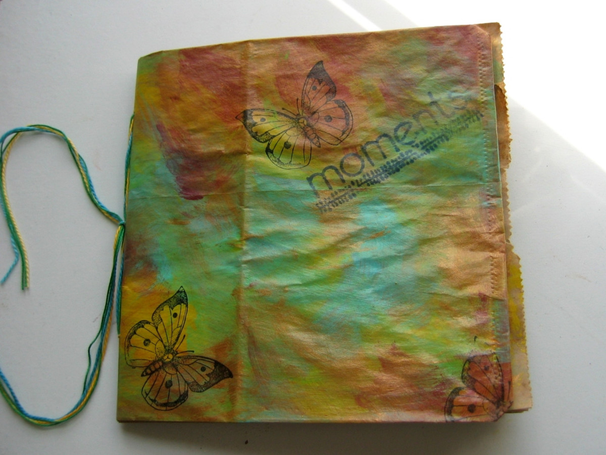 Butterfly paper bag journal