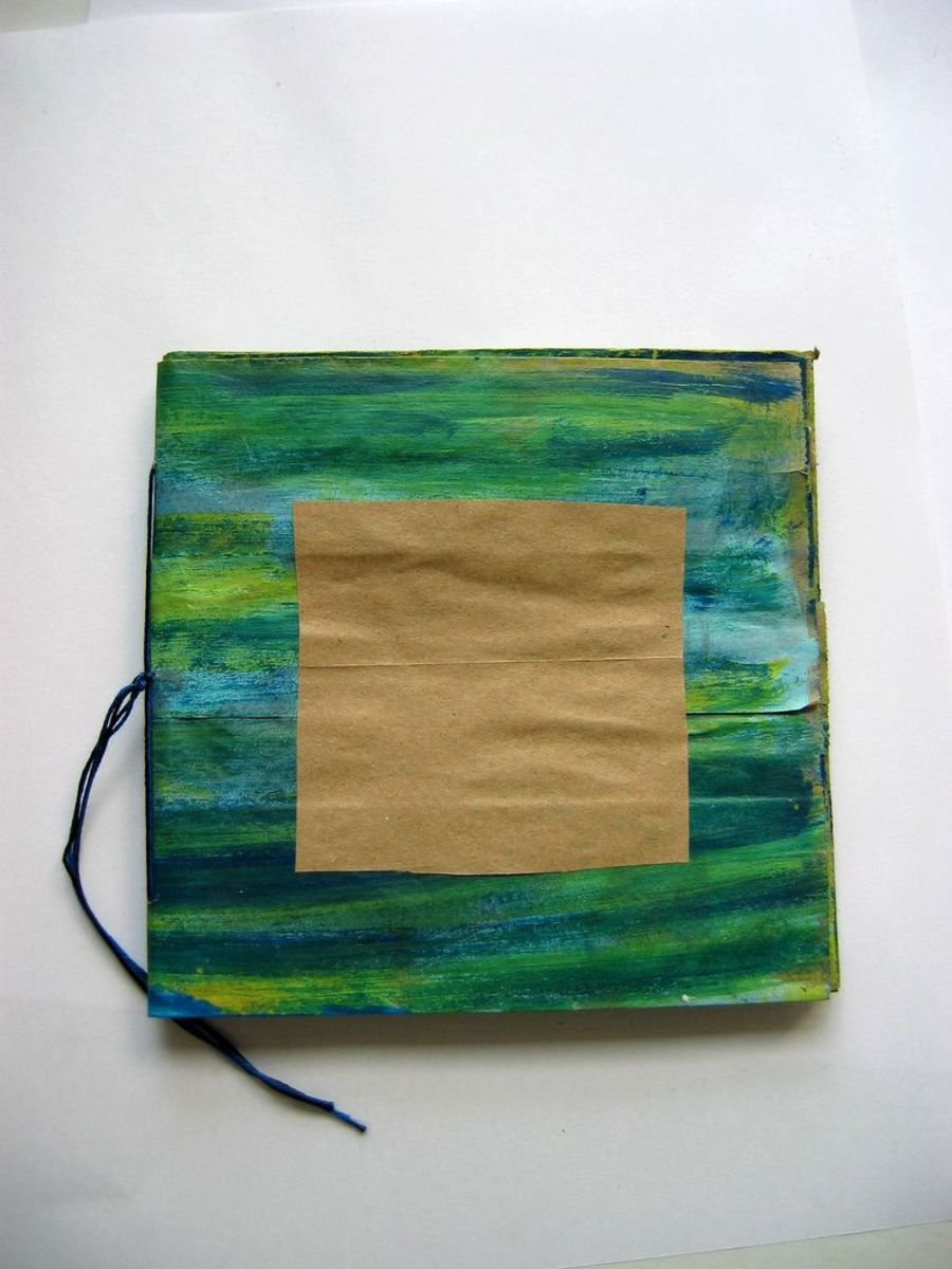 Stripy paper bag journal