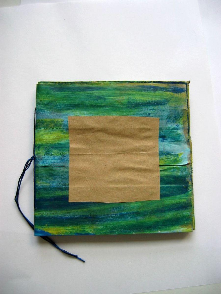 Stripy paper bag journal