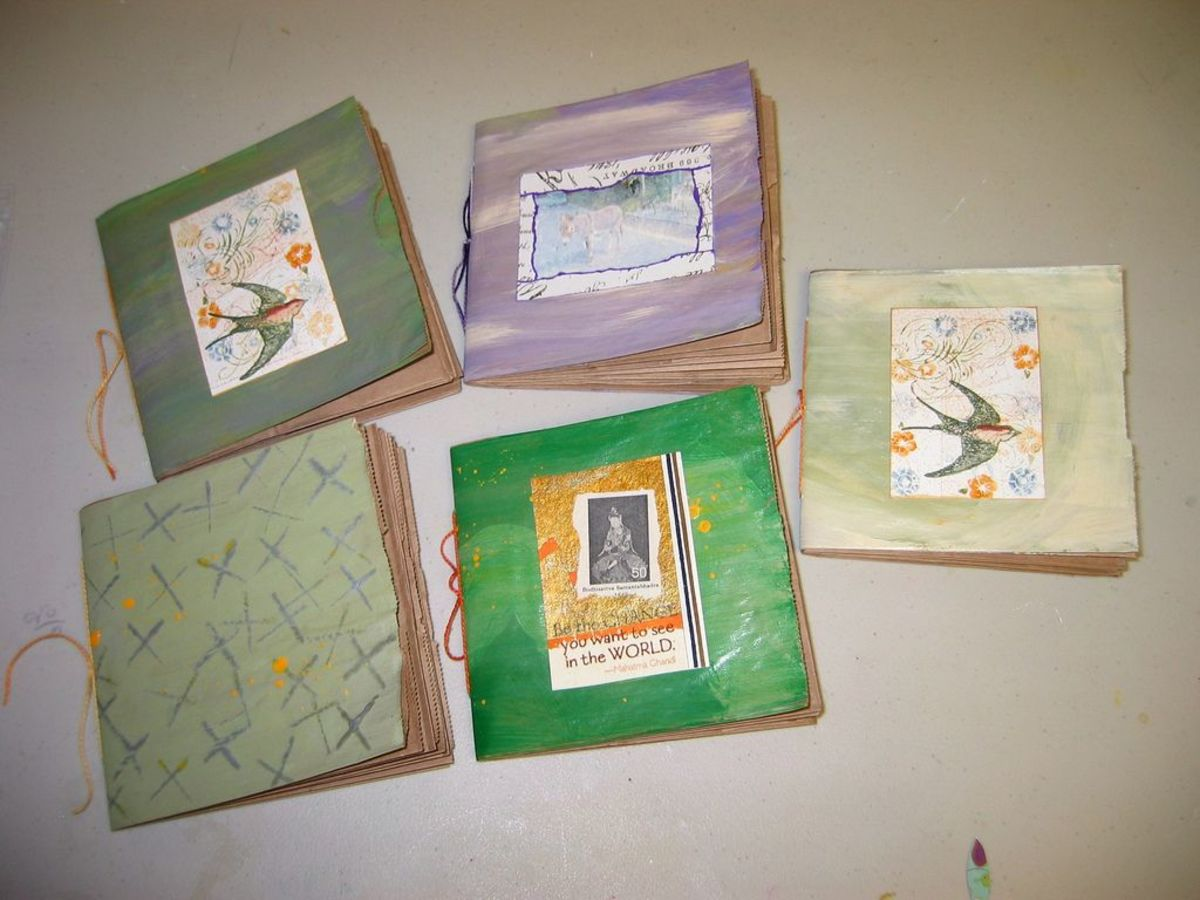 Paper bag books with decorated cover plates