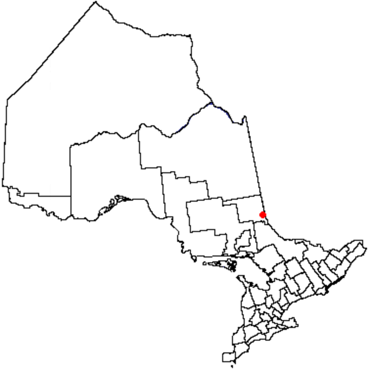 Map location of the City of Temiskaming Shores, Ontario