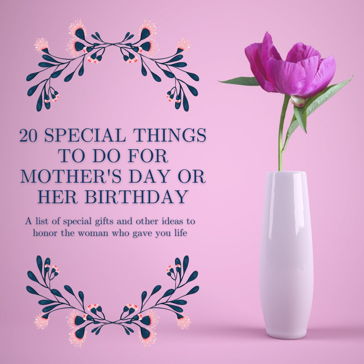 This article will provide a list of 20 different ways to honor your mother on her special day.