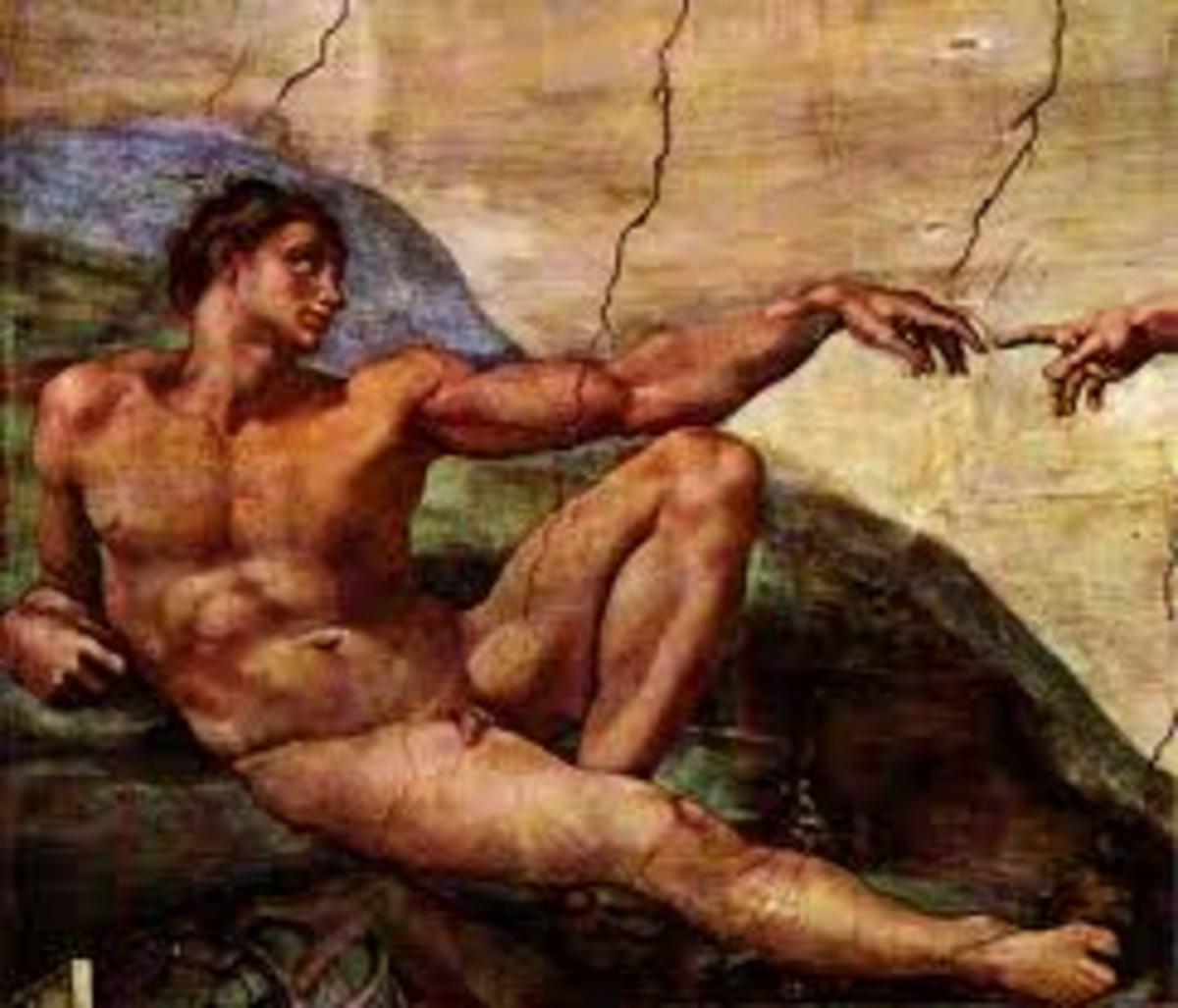 The awakening of Adam Michelangelo