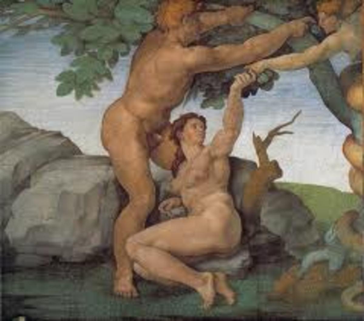 Adam and Eva, Michelangelo