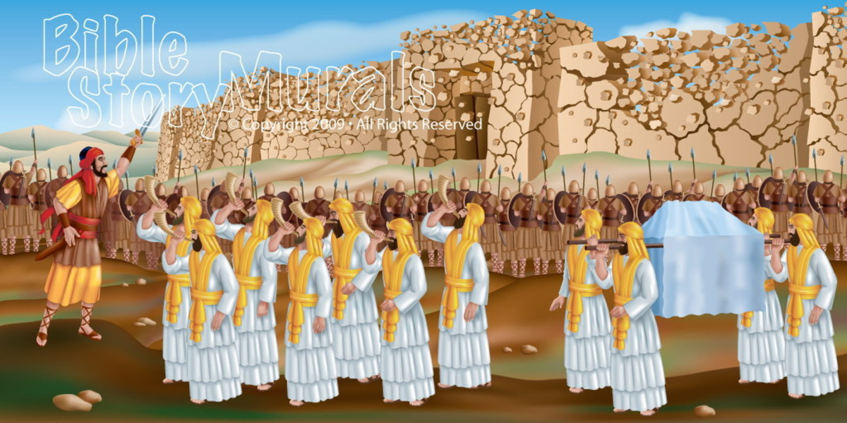 This picture was taken in The Battle of Jericho Was it a Victory? that is found in Joshua Chapter 6.For forty years rumors had come to the city of Jericho that the God of Israel had promised their land to the children of Israel.