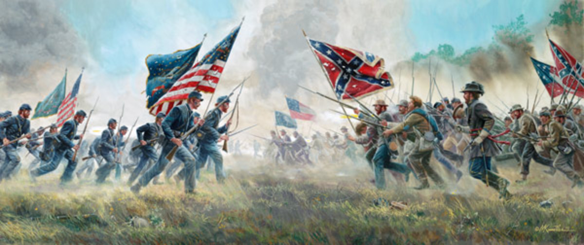 "Mort Kunstler's painting ""With A Rebel Yell"""