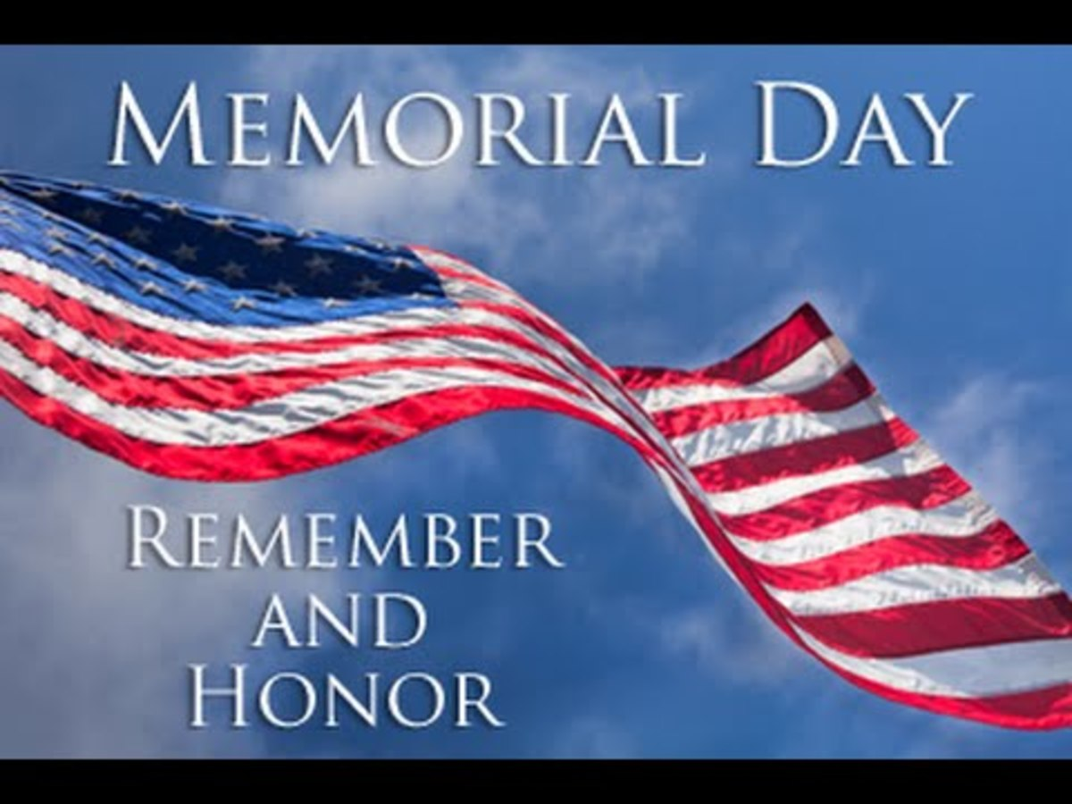 Memorial Day is the last Monday in May.