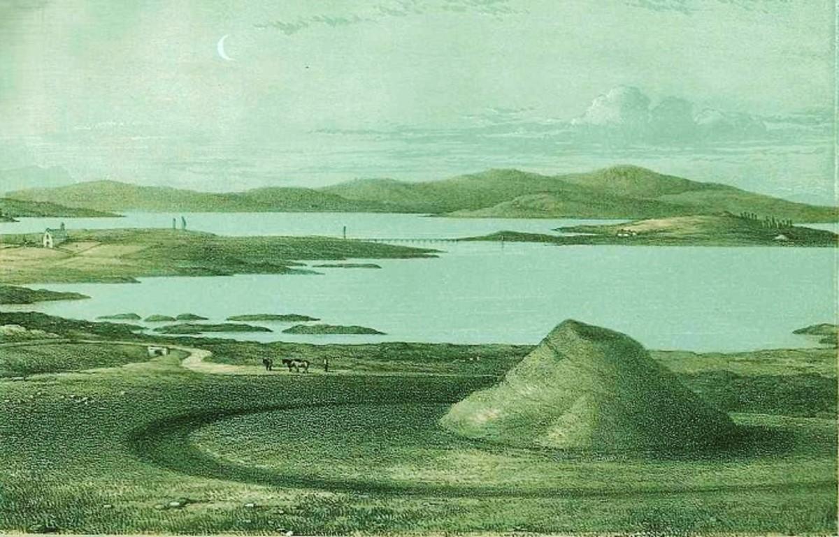 James Farrer's illustration  of Maes Howe, 1862 (public domain image)