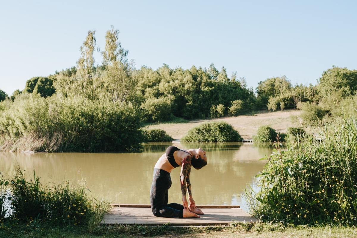 Ustrasana is beneficial in open space.