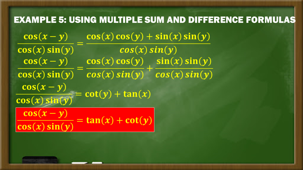 Example 5:Using Multiple Sum and Difference Formulas