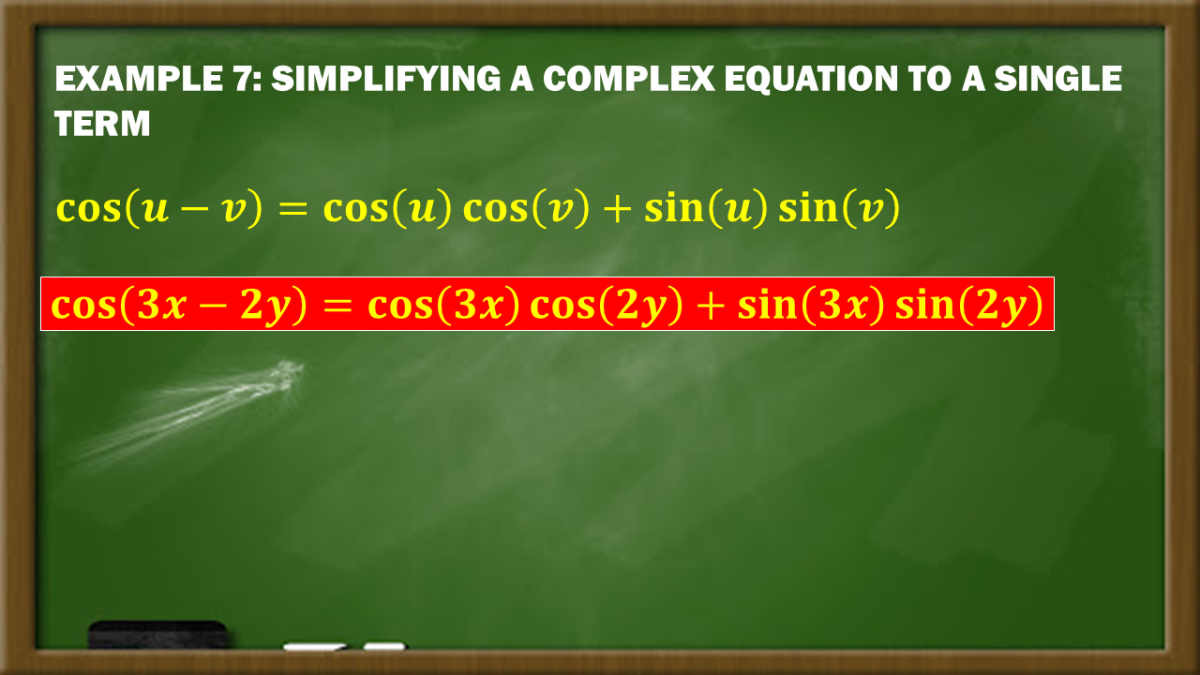 Example 7: Simplifying a Complex Equation to a Single Term