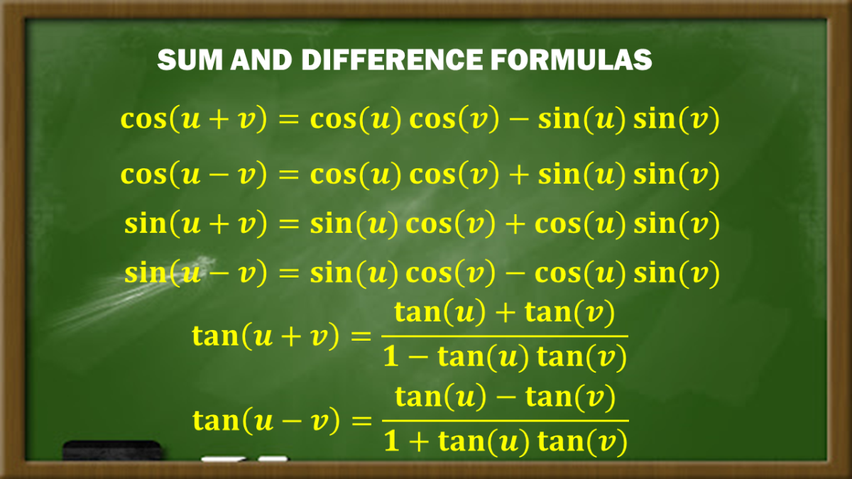 Sum and Difference Formulas