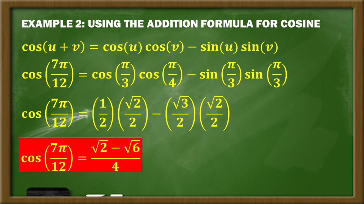 Example 2: Using the Addition Formula for Cosine