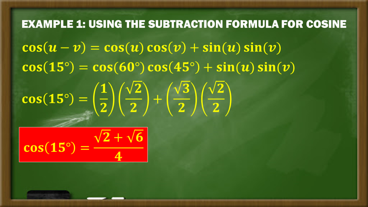 Example 1: Using the Subtraction Formula for Cosine