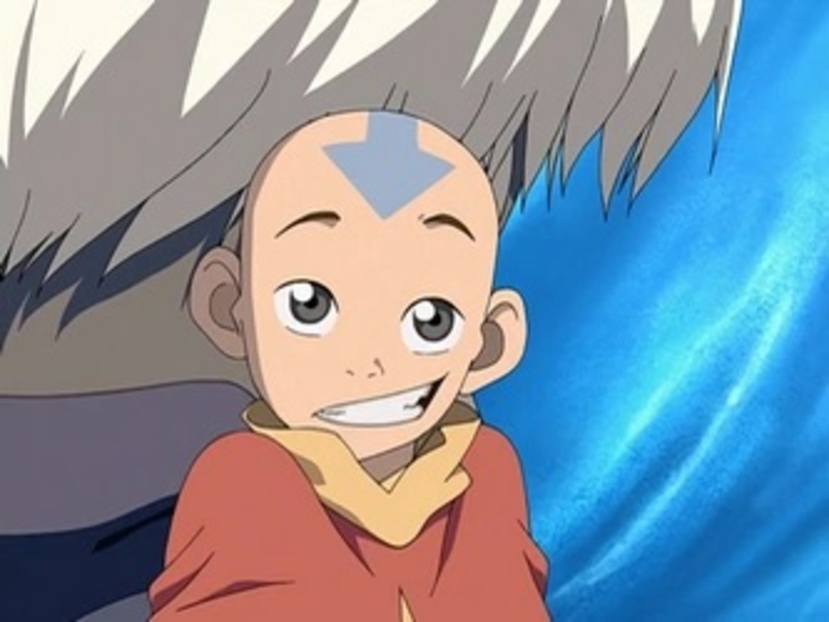 A close-up of Aang's eye color