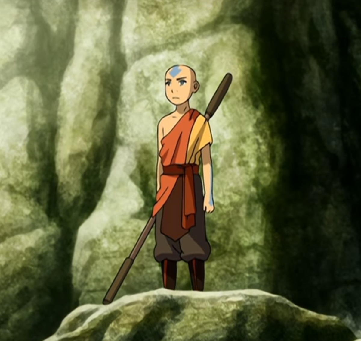 Aang's new outfit