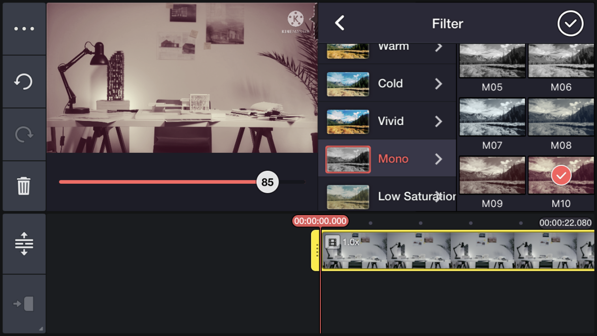 Trim or cut your video as needed.