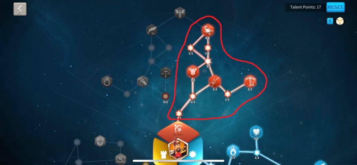 Core Archer Talents in this Nebuchadnezzar II Talent Tree Build Guide