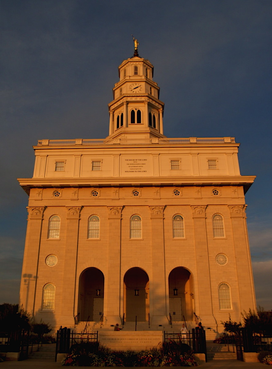 The Beautiful Reconstructed Nauvoo Temple.  I took this picture July 2007.