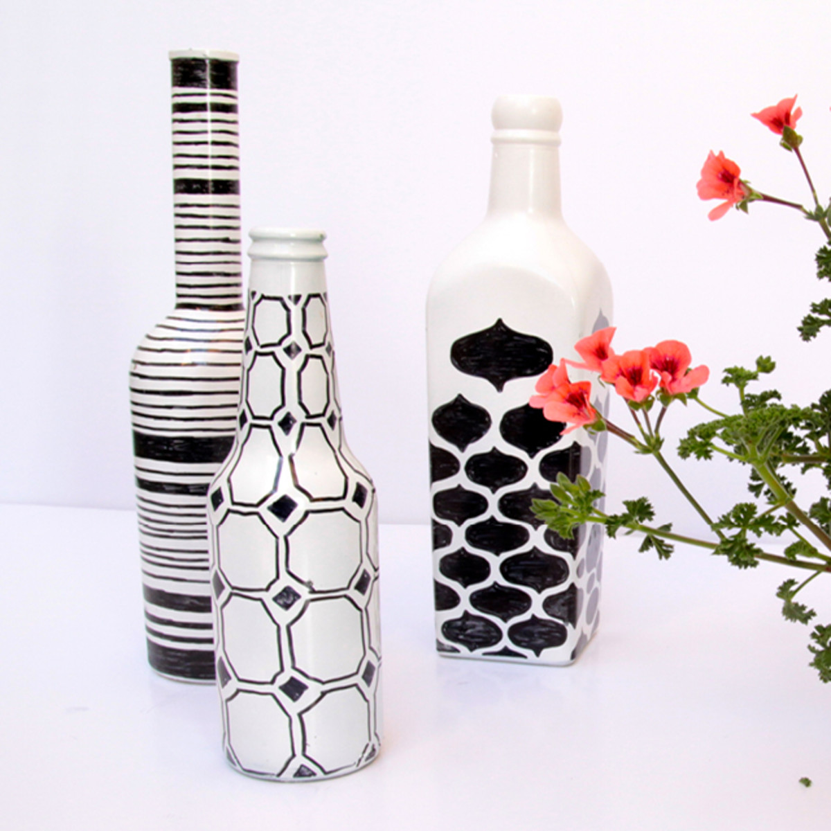 Recycle beer and oil bottles for home decor
