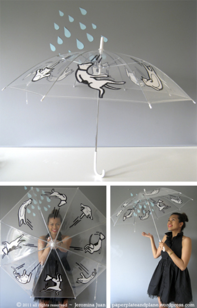 Create a custom umbrella with sharpies