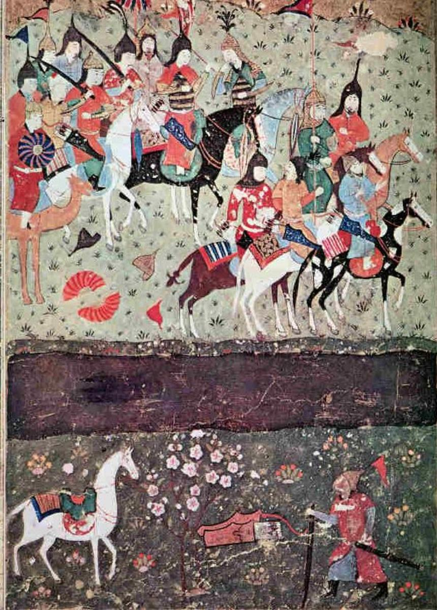 """History of Abul-Khayr Khan"" by  ~. Institute of Oriental Studies, Academy of Sciences of Uzbekistan. See: http://en.wikipedia.org/wiki/File:During_the_battle_of_Indus.jpg"