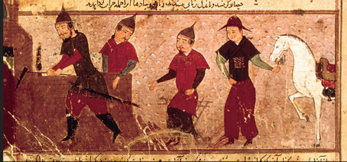See above + http://en.wikipedia.org/wiki/File:Genghis_Khan_and_three_of_his_four_sons.jpg