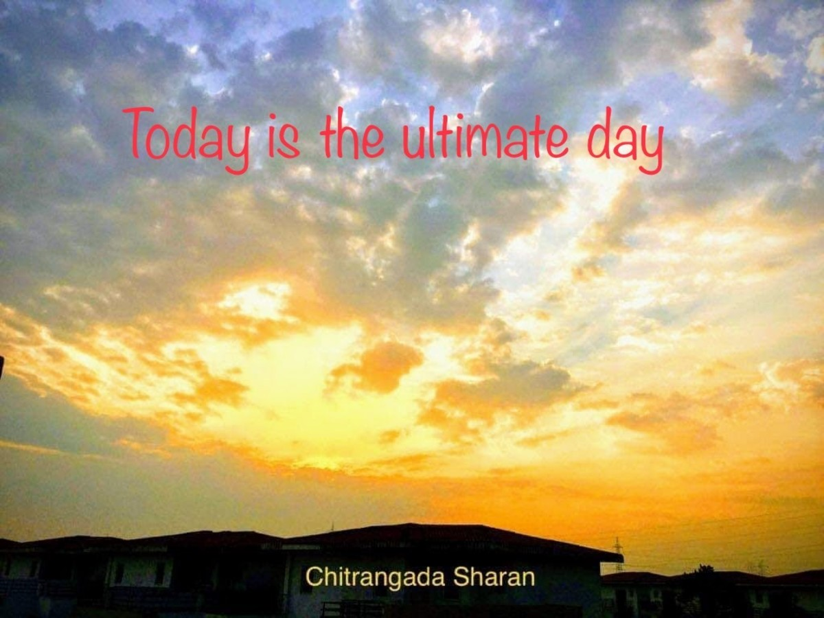Today is the ultimate day—Poem