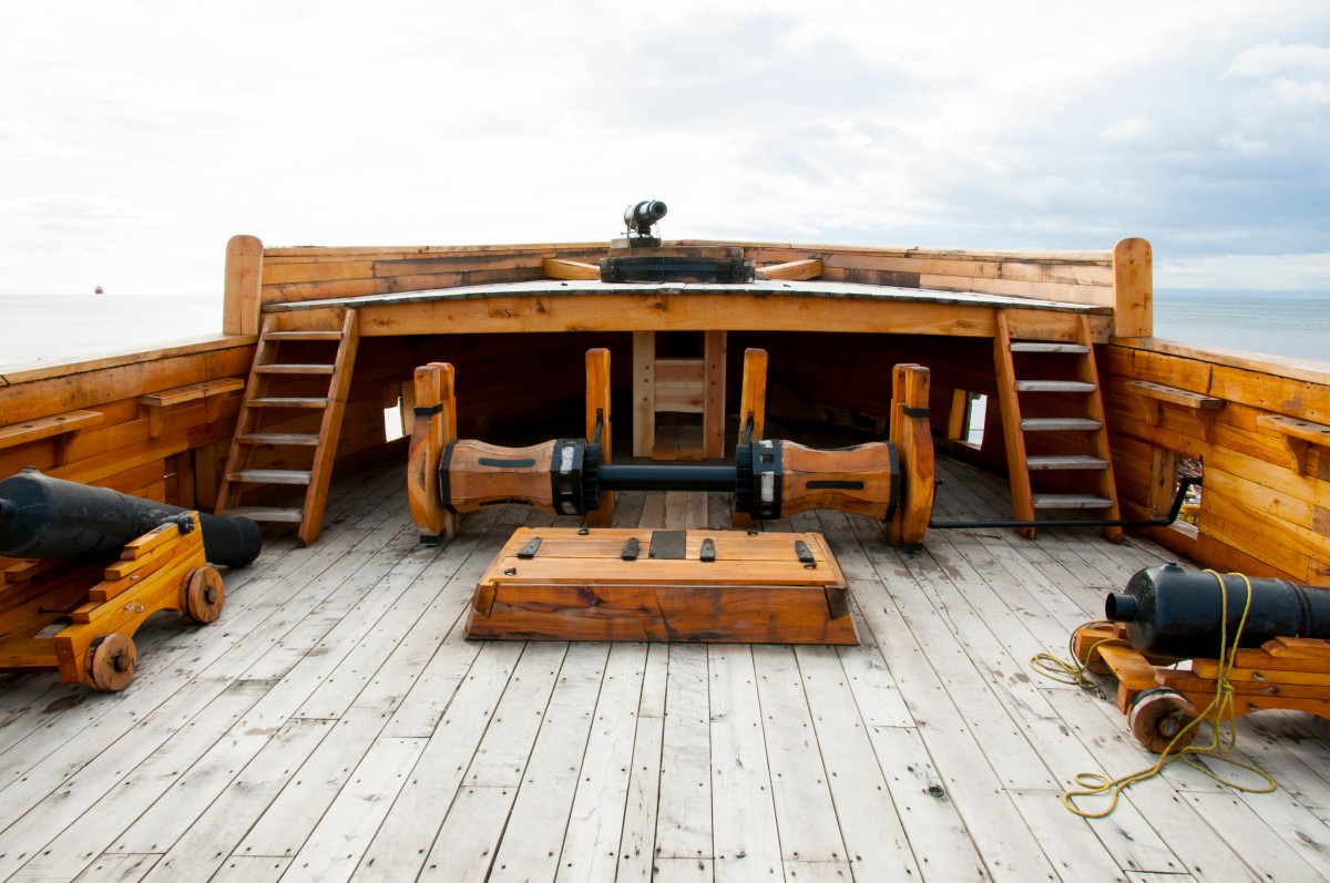 """Deck of an Old Wooden Ship"""