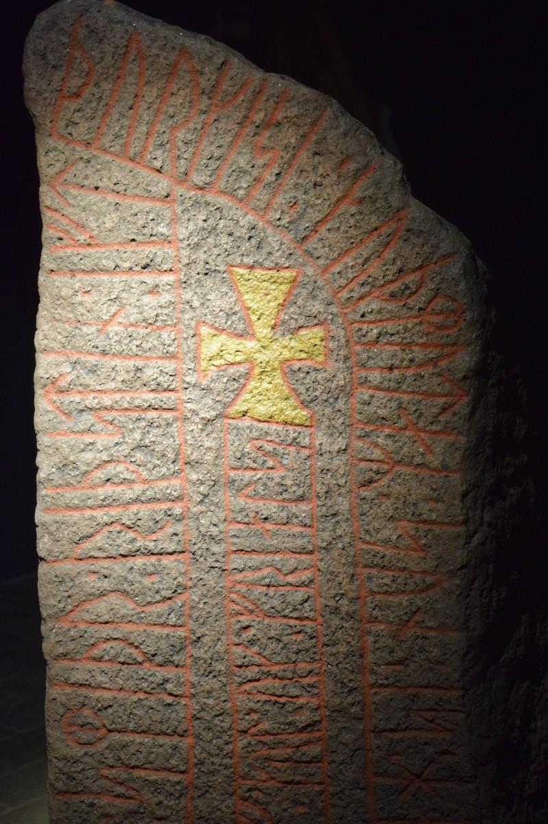 Rune Stone Stele Danish Denmark Arhus
