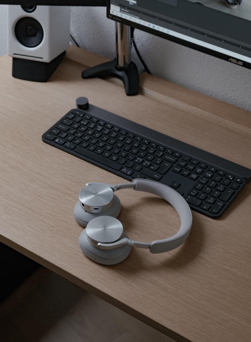 Computer headphones.