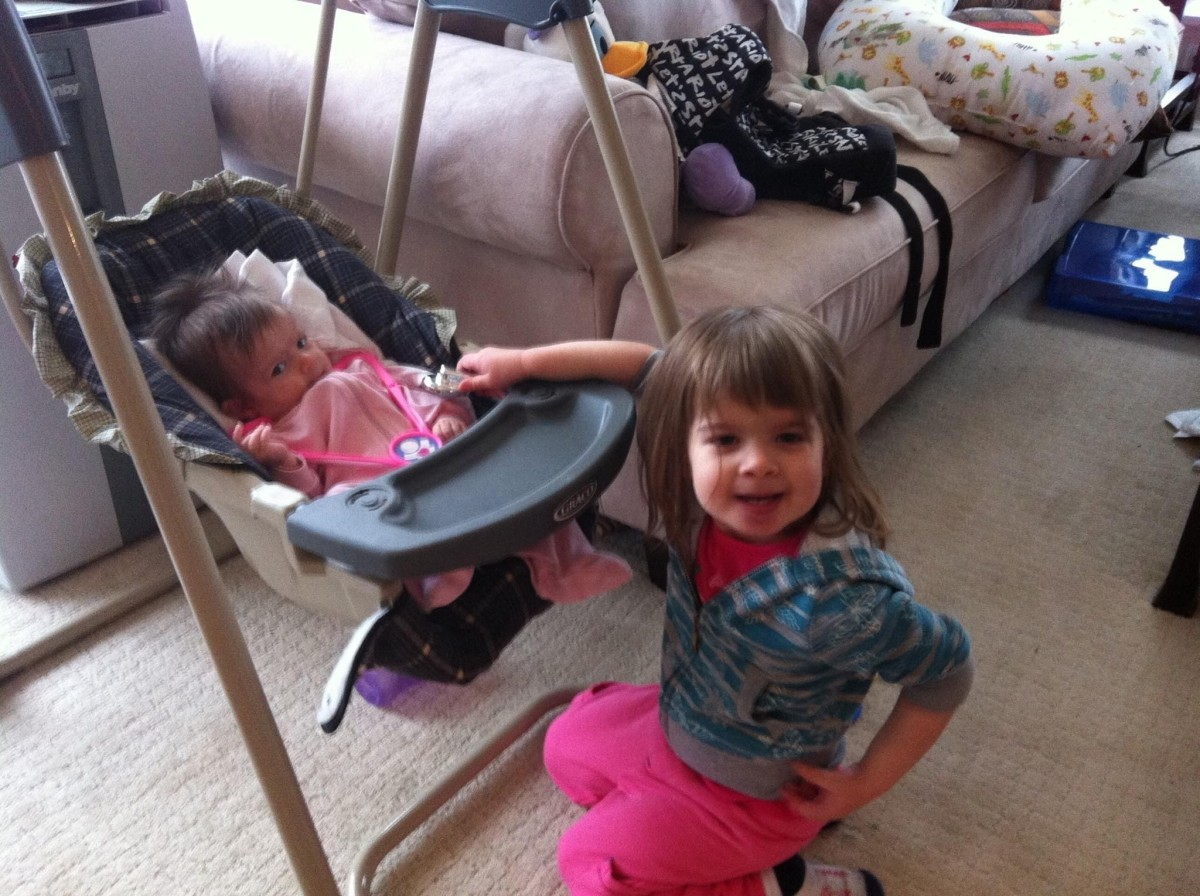"""My two daughters at ages 3 years and 6 months old.  My oldest was later formally diagnosed with dyslexia.  You can't tell a dyslexic by """"looking"""" at them.  For many families, childhood dyslexia can be confusing, stressful and frustrating."""