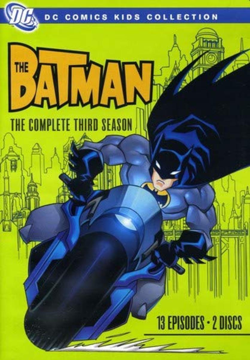 """The Batman"" season 3 official DVD artwork."